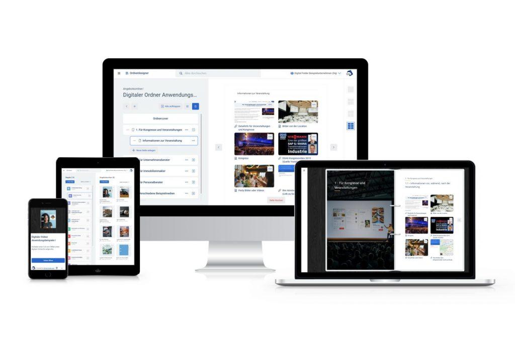 digitaler ordner digital folder responsive webapp cloud speicher made in germany